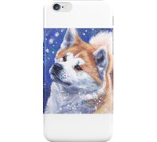 Japanese Akita Fine Art Painting iPhone Case/Skin