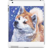 Japanese Akita Fine Art Painting iPad Case/Skin
