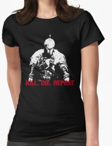 Kill, die, repeat Womens Fitted T-Shirt