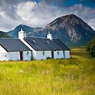 Black Rock Cottage and Buachaille Etive Mor by James Grant