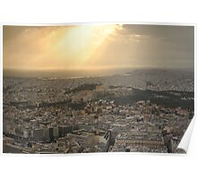 Athens and the Parthenon Poster