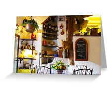 Vintage Provence Kitchen Interior in Ramatuelle, South of Saint Tropez Greeting Card