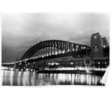 Walsh Bay B&W Poster