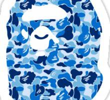 bape camo blue Sticker