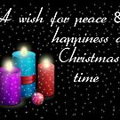 Wishing you peace at Christmas (Card) by Bernie Stronner