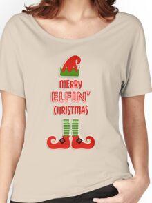 Merry Elfin' Christmas Women's Relaxed Fit T-Shirt
