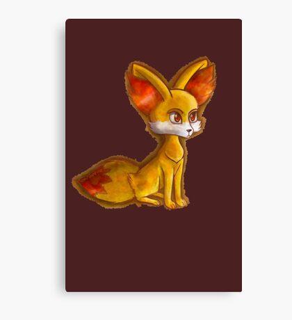 Fire Fennekin Pokemon  Canvas Print