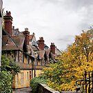 Dean Village Old Houses by Sandra Cockayne