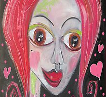 LOVE BIRD by Barbara Cannon  ART.. AKA Barbieville