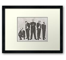 Tuxedo Monsters Framed Print