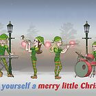 Elves Play Christmas Carols - Christmas Card by BurrowsImages