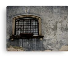 Cracked wall and window Canvas Print