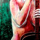 "Nude with Guitar 2 by Belinda ""BillyLee"" NYE (Printmaker)"
