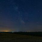 A lone Perseid meteor streaks across the sky by Josef Pittner