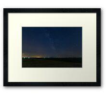 A lone Perseid meteor streaks across the sky Framed Print