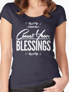 Count Your Blessings Women's Fitted Scoop T-Shirt