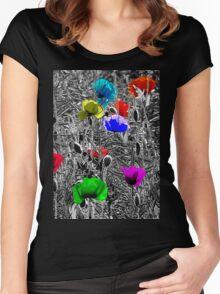 POPPYDELIA Women's Fitted Scoop T-Shirt