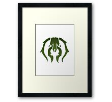 A Black Green Insect Framed Print