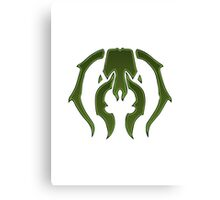 A Black Green Insect Canvas Print
