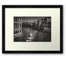 Looking North on the Grand Canal - B&W Framed Print