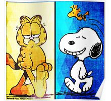 garfield & snoopy Poster