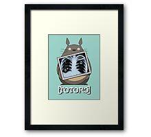 Scrubs Totoro Framed Print