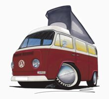 VW Bay (Early) Pop-Top Dark Red by Richard Yeomans