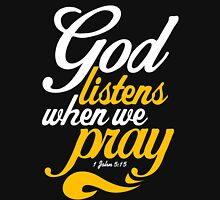 God Listens When We Pray Mens V-Neck T-Shirt