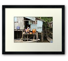 Canal life Framed Print