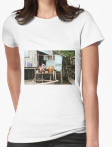 Canal life Womens Fitted T-Shirt