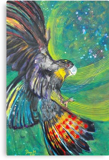Black Cockatoo by Donna Macarone