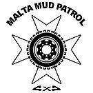 MMP - Malta Mud Patrol - Black Logo on White by PhotoWorks