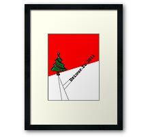 Canceling Christmas Card Framed Print
