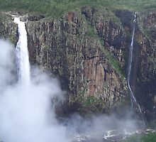 Wallerman Falls- The highest single drop falls in Australia by Donna Macarone