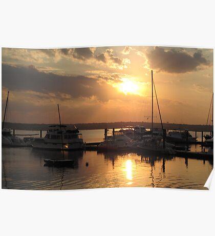 National Harbor Sunset Poster