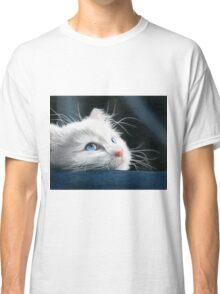 Blue-Eyed Kitten Drawing Classic T-Shirt