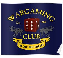 Wargaming Club Badge Poster