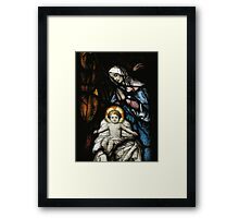 coloured glass Framed Print