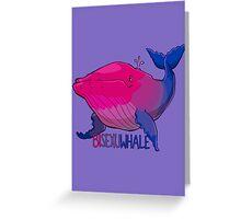 Bisexuwhale - with text Greeting Card