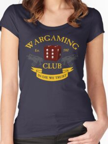 Wargaming Club Badge Women's Fitted Scoop T-Shirt