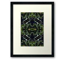 Water drops, grass stems Framed Print