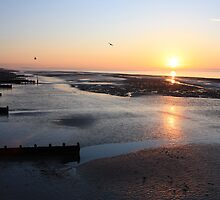 Low Tide Sunrise - Worthing by Matthew Floyd