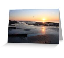 Low Tide Sunrise - Worthing Greeting Card