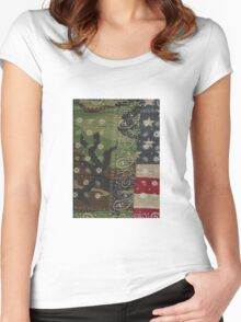 Renegade Military Camo Bandit Women's Fitted Scoop T-Shirt
