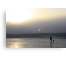 Morning Stroll With the Dog - Worthing Canvas Print