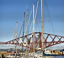 The Marina And The Forth Bridge, Scotland by Sandra Cockayne