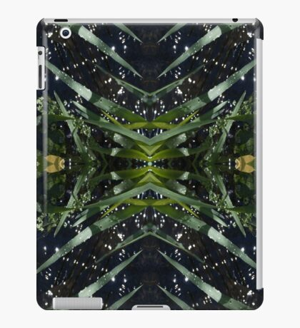 Water drops, nature, stems iPad Case/Skin