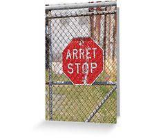 STOP Red sign Greeting Card