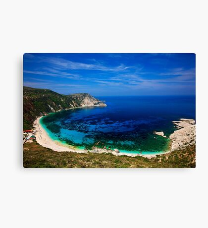 Petani beach - Kefalonia island Canvas Print