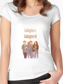 gallaghers. gallaghers!! Women's Fitted Scoop T-Shirt